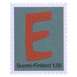 Kirjaimet - E  postimerkki 1 markka