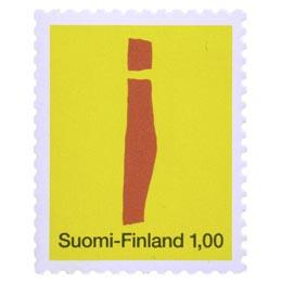 Kirjaimet - I  postimerkki 1 markka