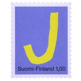 Kirjaimet - J  postimerkki 1 markka