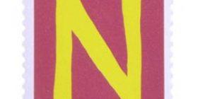 Kirjaimet - N  postimerkki 1 markka