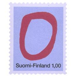 Kirjaimet - O  postimerkki 1 markka