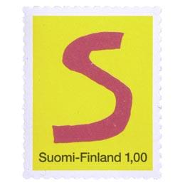 Kirjaimet - S  postimerkki 1 markka