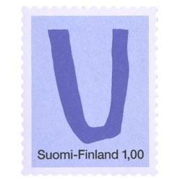Kirjaimet - U  postimerkki 1 markka