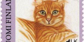 Kissoja - Kotikissa  postimerkki 1 luokka