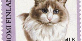 Kissoja - Ragdoll  postimerkki 1 luokka