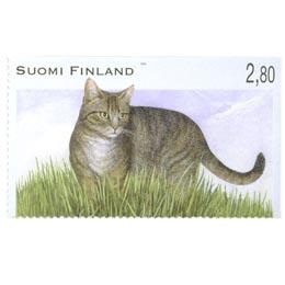 Kissoja - maatiais- eli kotikissa  postimerkki 2