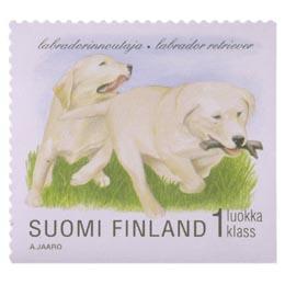 Koiranpentuja - Labradorinnoutaja  postimerkki 1 luokka