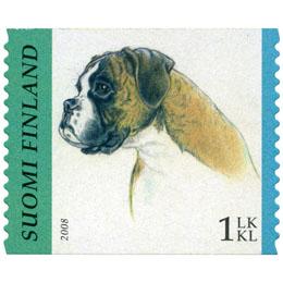 Koiria - Bokseri  postimerkki 1 luokka