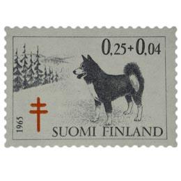 Koiria - Karjalankarhukoira musta / punainen postimerkki 0