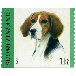 Koiria - Suomenajokoira  postimerkki 1 luokka
