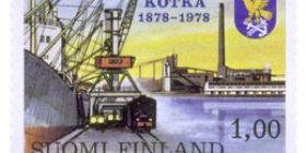 Kotka 100 vuotta  postimerkki 1 markka