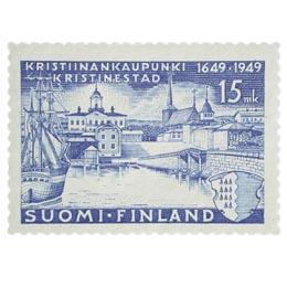 Kristiinankaupunki 300 vuotta sininen postimerkki 15 markka