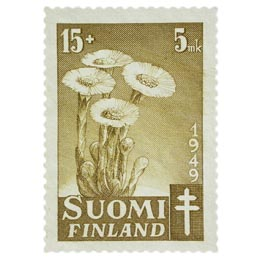 Kukkia - Leskenlehti kellanoliivi postimerkki 15 markka