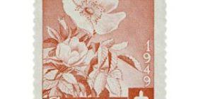Kukkia - Villiruusu punainen postimerkki 9 markka