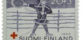 Lappi - Saamelainen tummansininen postimerkki 20 markka
