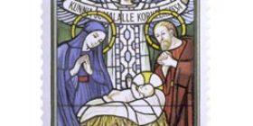 Lasimaalaus Karkkilan kirkosta  postimerkki 2