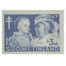 Lastenhuolto sininen postimerkki 12 markka