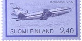 Lentopostikuljetus - Douglas DC 10  postimerkki 2