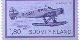 Lentopostikuljetus - Junkers 13  postimerkki 1