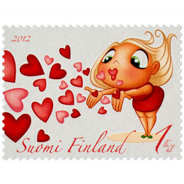 Lentosuukkoja  postimerkki 1 luokka