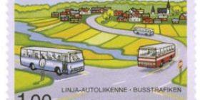 Linja-autoliikenne  postimerkki 1 markka