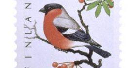Lintuja - Punatulkku  postimerkki 2