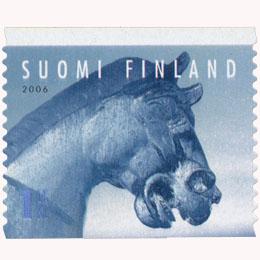 Lumiteoksia - Hevonen  postimerkki 1 luokka