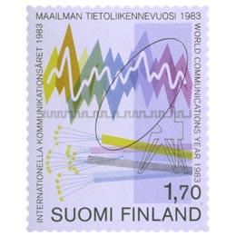 Maailman tietoliikennevuosi - Teleliikenne  postimerkki 1
