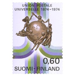 Maailmanpostiliitto 100 vuotta  postimerkki 0