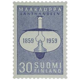 Maakauppa 100 vuotta sininen postimerkki 30 markka