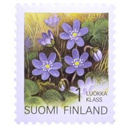 Maakuntakukat - Sinivuokko  postimerkki 1 luokka