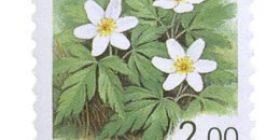 Maakuntakukat - Valkovuokko  postimerkki 2 markka