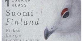 Maakuntalinnut - Riekko  postimerkki 1 luokka