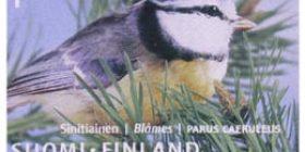 Maakuntalinnut - Sinitiainen  postimerkki 1 luokka