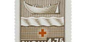 Maakuntien vaakunoita - Uusimaa ruskea postimerkki 1