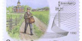 Maalaiskirjeenkanto 100 vuotta Suomessa  postimerkki 2 markka