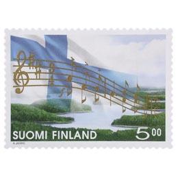 Maamme-laulu 150 vuotta  postimerkki 5 markka