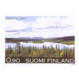 Maisema Pohjois-Suomesta  postimerkki 0