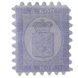 Malli 1860 sininen postimerkki 0