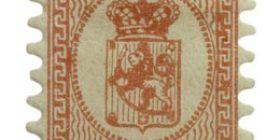 Malli 1866 punainen postimerkki 0