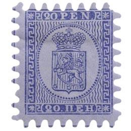 Malli 1866 sininen postimerkki 0