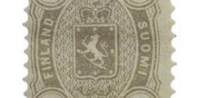 Malli 1875 harmaa postimerkki 0