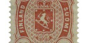 Malli 1875 karmiininpunainen postimerkki 0