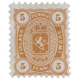 Malli 1875 oranssi postimerkki 0