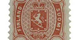 Malli 1875 punainen postimerkki 0