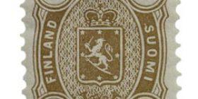 Malli 1875 ruskea postimerkki 0