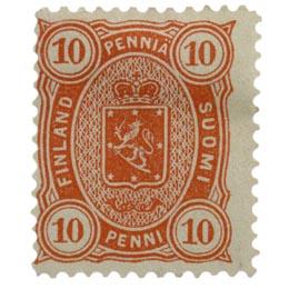 Malli 1885 punainen postimerkki 0