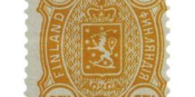 Malli 1889 keltainen postimerkki 0