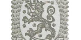 Malli 1917 Saarinen harmaa postimerkki 0