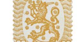 Malli 1917 Saarinen keltainen postimerkki 0
